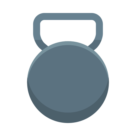 Gym kettlebell equipment cartoon vector illustration graphic design Illusztráció