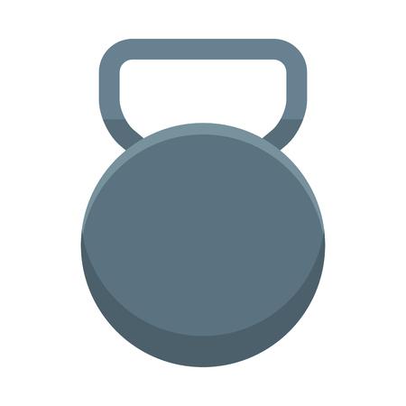 Gym kettlebell equipment cartoon vector illustration graphic design Illustration
