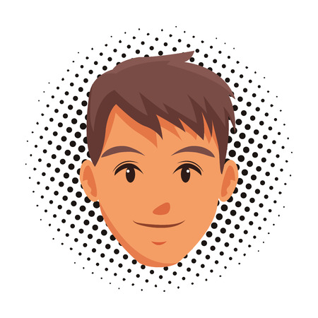 cute man face cartoon vector illustration graphic design Ilustracja