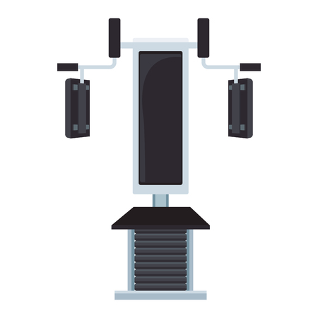 Gym chest machine isolated vector illustration graphic design