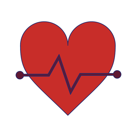 Heartbeat medical symbol isolated vector illustration graphic design Ilustrace