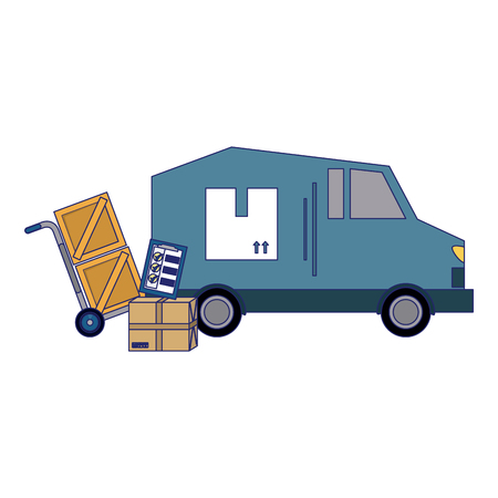 Delivery and logistics vehicle truck vector illustration graphic design