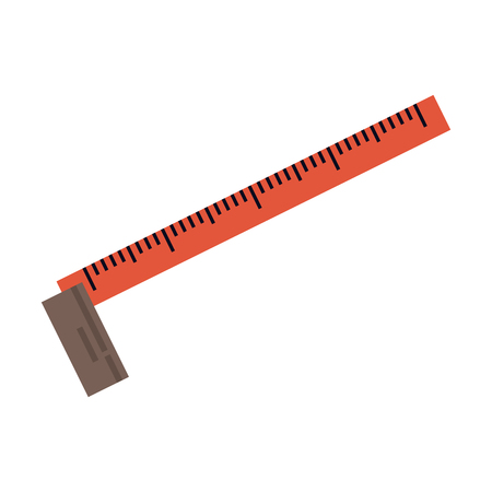 measure tape construction tool isolated vector illustration graphic design Illustration