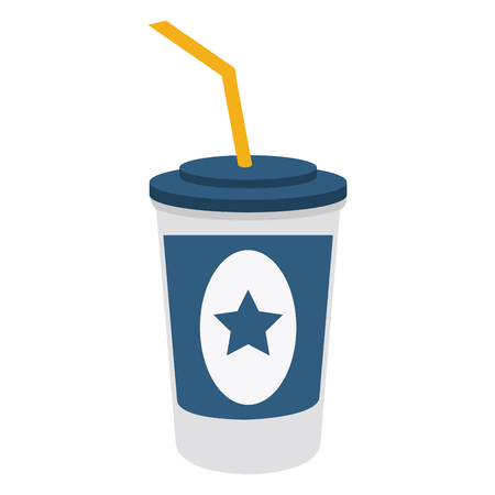 Soda cup with straw vector illustration graphic design Illusztráció
