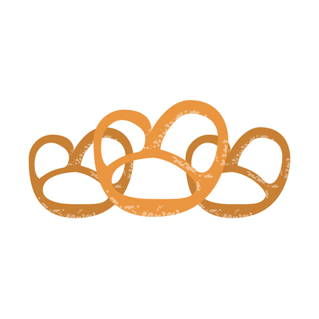 pretzel snacks food vector illustration graphic design Archivio Fotografico - 126868498