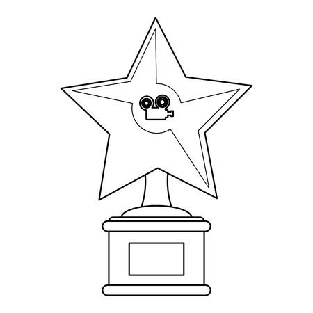 Cinema star award symbol vector illustration graphic design