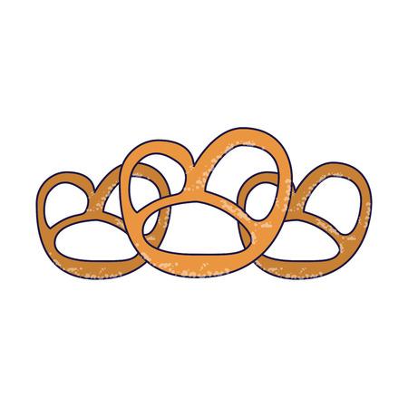 pretzel snacks food vector illustration graphic design