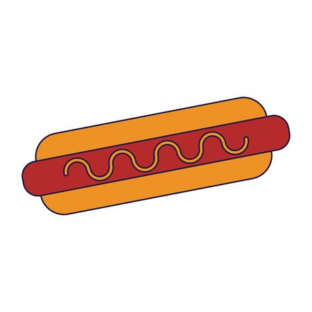 324df0955872 Hot dog fast food cartoon vector illustration graphic design