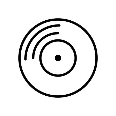 Vinyl music disc vector illustration graphic design Stock Illustratie