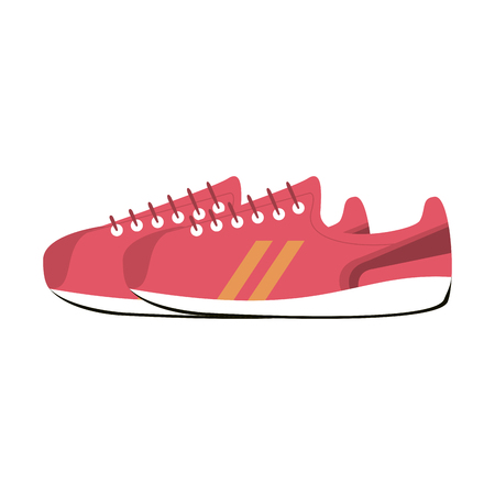 Running shoes footwear isolated vector illustration graphic design
