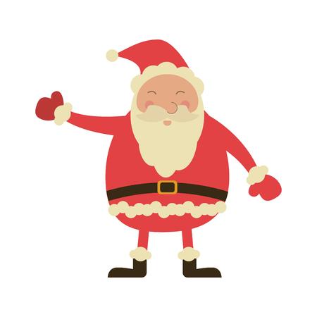 Christmas santa claus cartoon icon vector ilustration