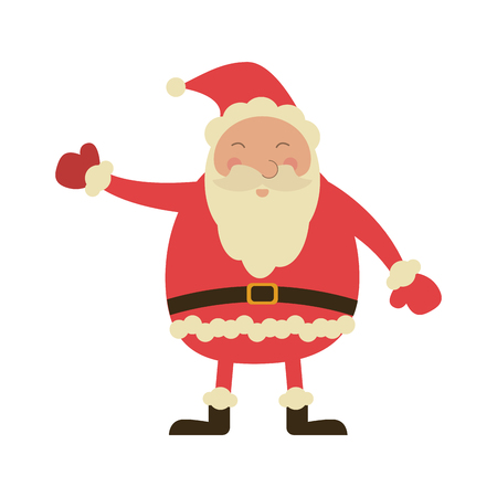 Christmas santa claus cartoon icon vector ilustration