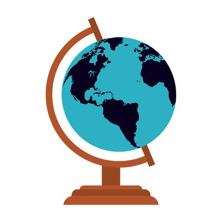 World globe symbol isolated vector illustration graphic design Illustration
