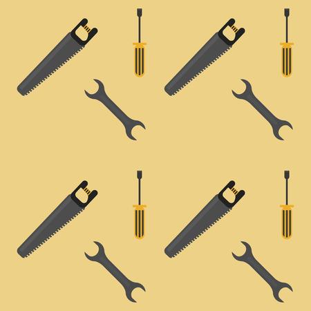 Werkzeuge Hintergrund Cartoons Muster Vektor Illustration Grafikdesign