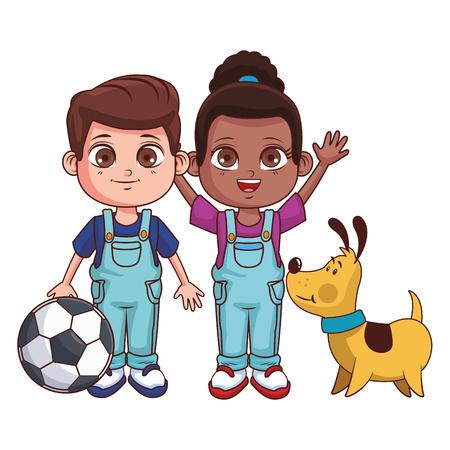 cute children cartoon vector illustration graphic design Stock Illustratie