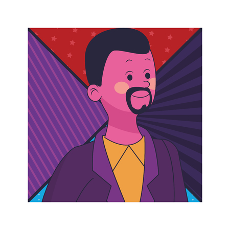 young man cartoon vector illustration graphic design Illustration