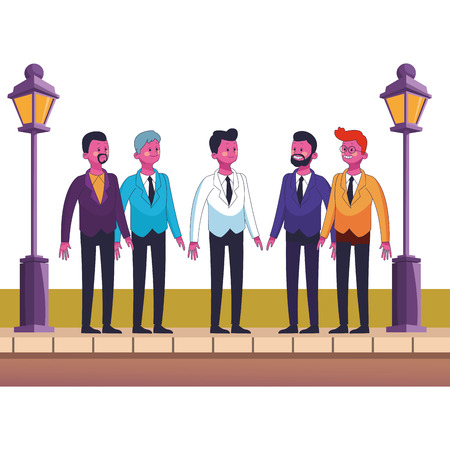 group of friends cartoon vector illustration graphic design