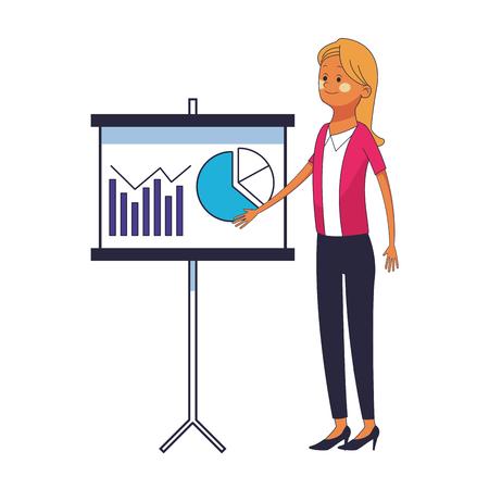 executive businesswoman cartoon vector illustration graphic design