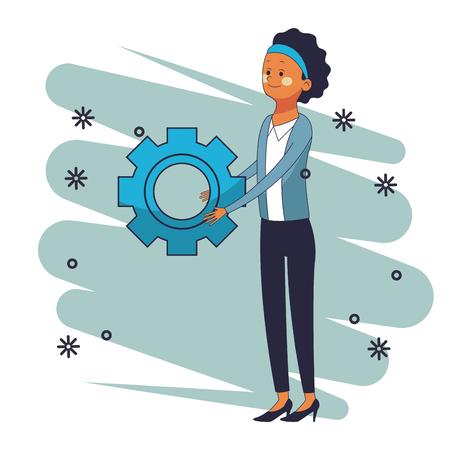 executive businesswoman vector illustration graphic design Çizim