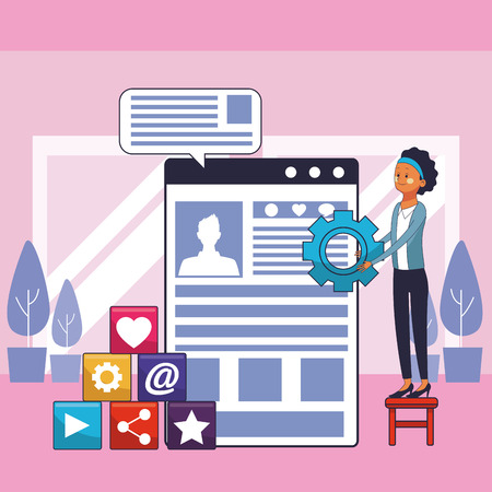 executive businesswoman vector illustration graphic design