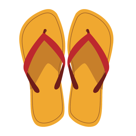 flips flops icon in white background vector illustration graphic design