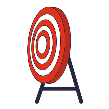 target shooting cartoon vector illustration graphic design