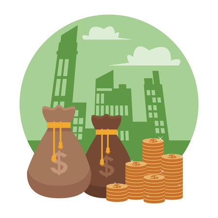 business saving money element cartoon vector illustration graphic design