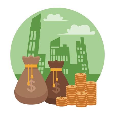 business saving money element cartoon vector illustration graphic design