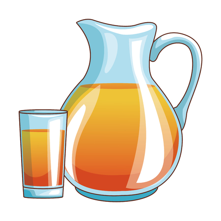 delicious and fresh fruit juice cartoon vector illustration graphic design