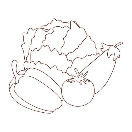 fresh vegetables cartoon vector illustration graphic design