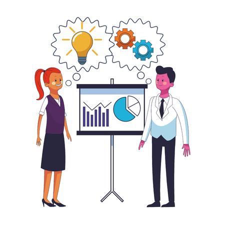 business coworkers executives cartoon vector illustration graphic design Vektorové ilustrace