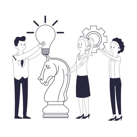 zakelijke collega's leidinggevenden cartoon vector illustratie grafisch ontwerp