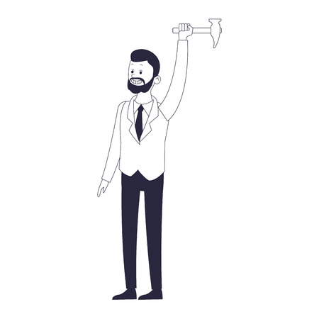 executive businessman cartoon vector illustration graphic design