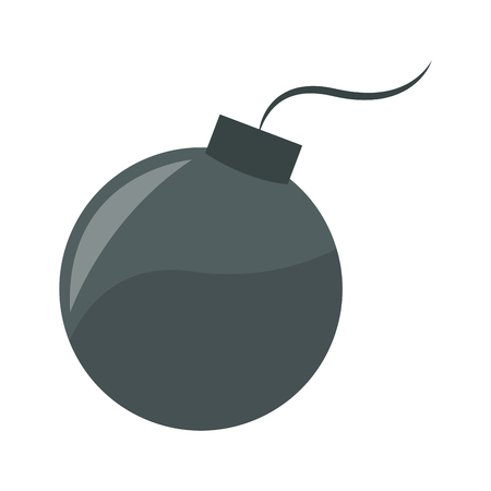 Round bomb symbol vector illustration graphic design Vettoriali
