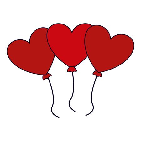 Heart balloons shaped isolated vector illustration graphic design vector illustration graphic design