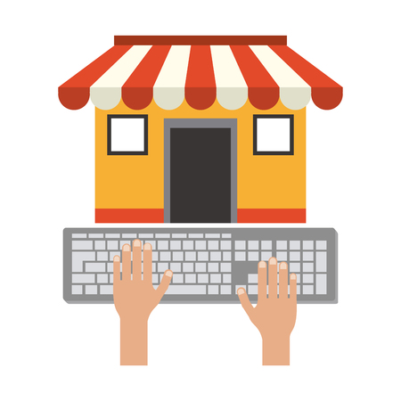 buy online in store from computer vector illustration graphic design