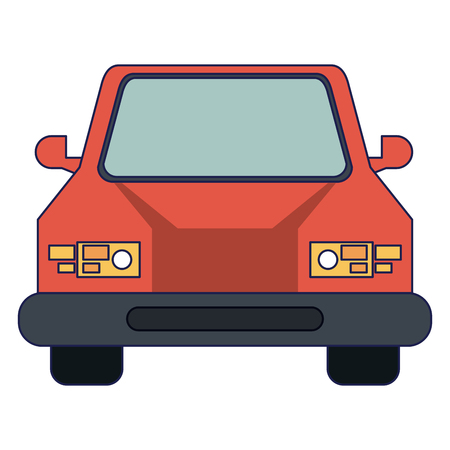Car front view vehicle cartoon vector illustration graphic design