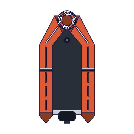 Sea boat topview isolated vector illustration graphic design Illustration