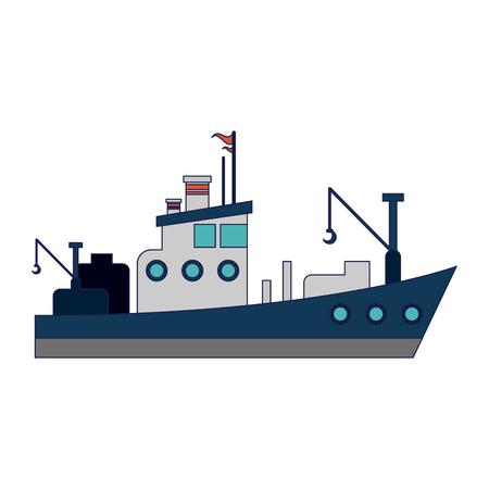 Sea ship boat isolated vector illustration graphic design