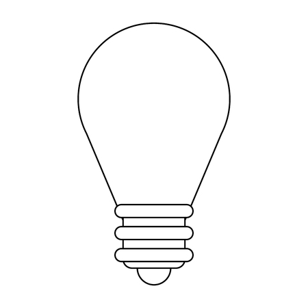 Bulb light symbol isolated in black and white vector illustration graphic design