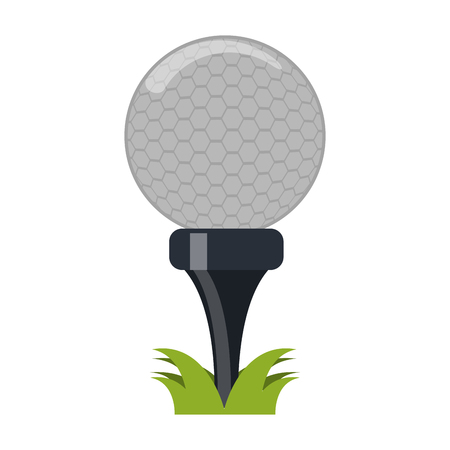 Golf Ball on camp field vector illustration graphic design