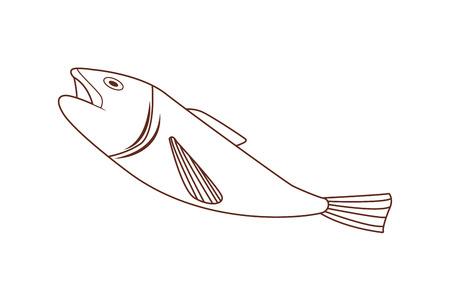fish isolated icon vector illustration graphic design
