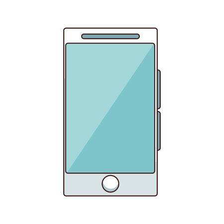 technology smarthphone cartoon vector illustration graphic design Vectores