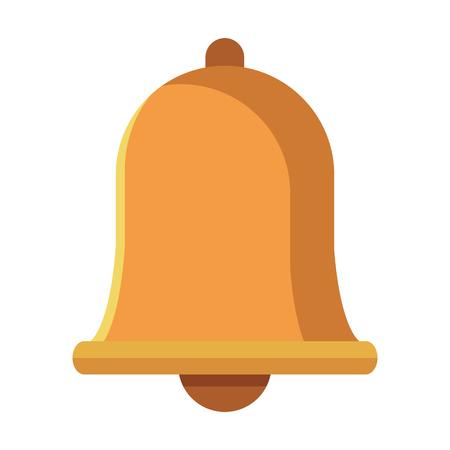 notification bell icon colorful in white background Vektoros illusztráció