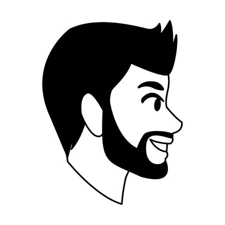 Young man faceless cartoon vector illustration graphic design Vecteurs