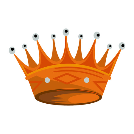 Luxury crown symbol vector illustration graphic design Ilustrace