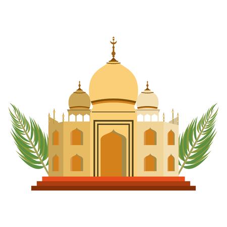 India taj mahal monument vector illustration graphic design