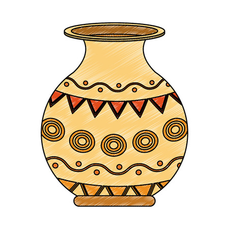Porcelain jar isolated vector illustration graphic design Ilustração