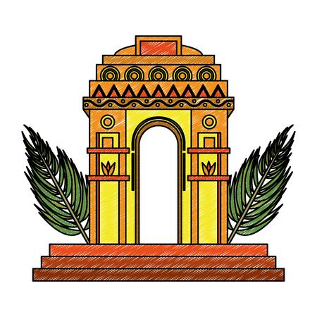 India gate monument vector illustration graphic design