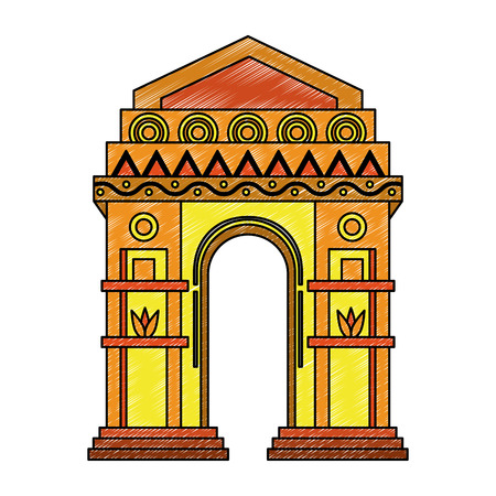 India gate monument vector illustration graphic design